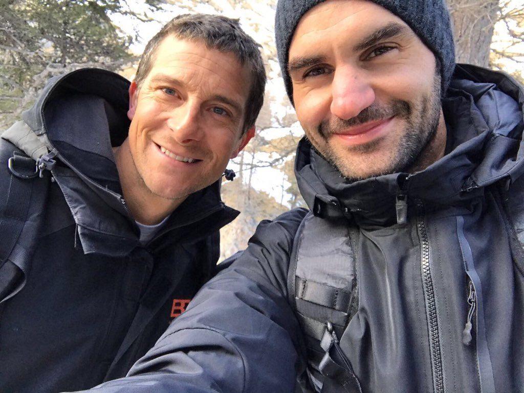 Roger Federer Bear Grylls Travelers Wifi