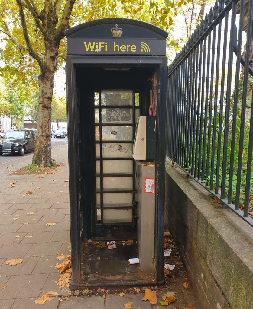 Free Wifi Boxes are distributed throughout London