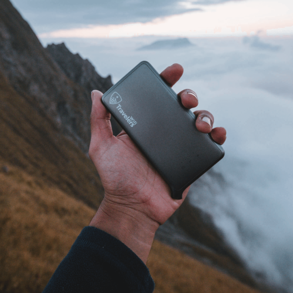 A Pocket wifi or portable wifi router for 140 countries