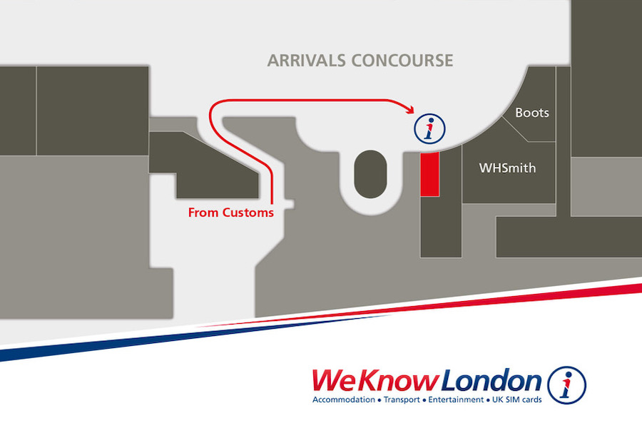 Karte Pocket Wifi bei We Know London Terminal 2