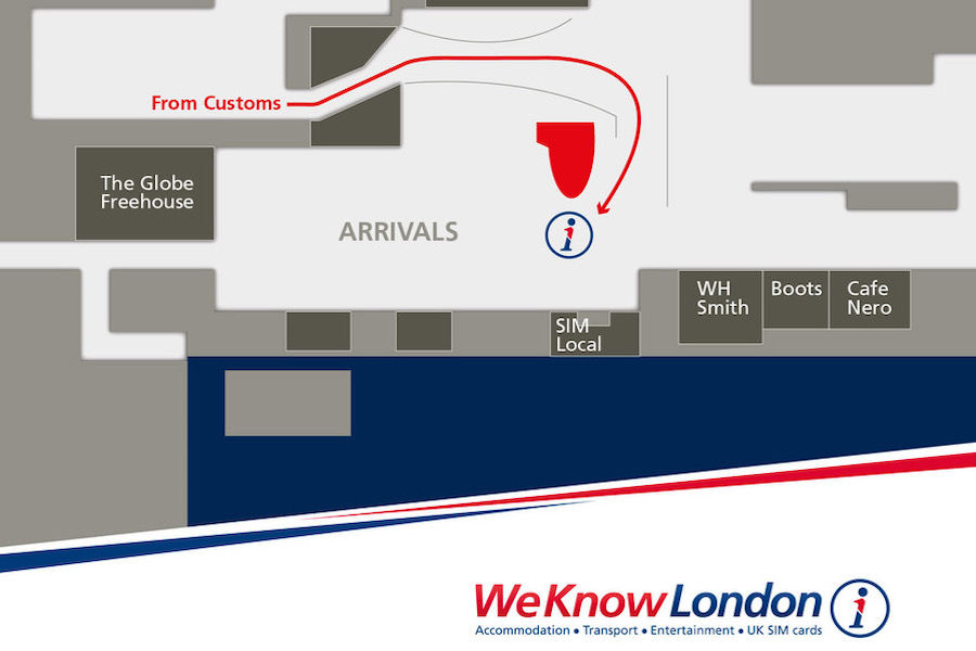 Map for Pocket Wifi Pickup at London Heathrow Terminal 3