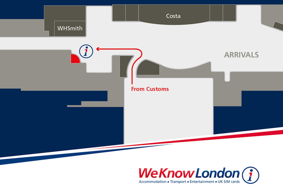 Map for Pocket Wifi Pickup at London Heathrow Terminal 4