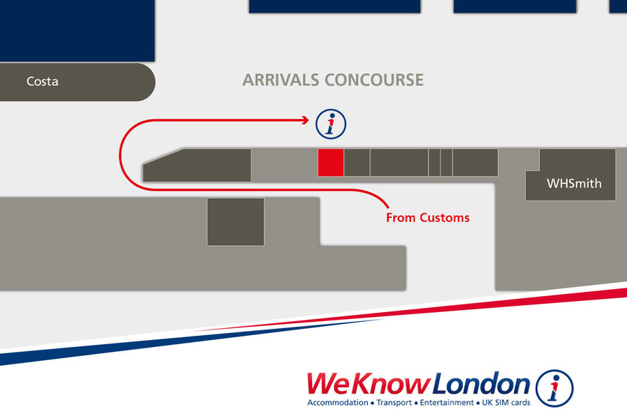 Map for Pocket Wifi Pickup at London Heathrow Terminal 5