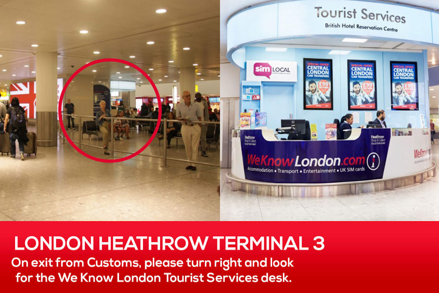 Pocket Wifi Pickup at London Heathrow Terminal 3