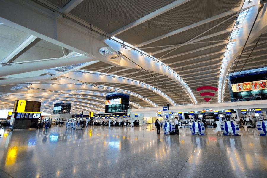 จุดรับ Wifi พกพาใน London Heathrow Airport UK