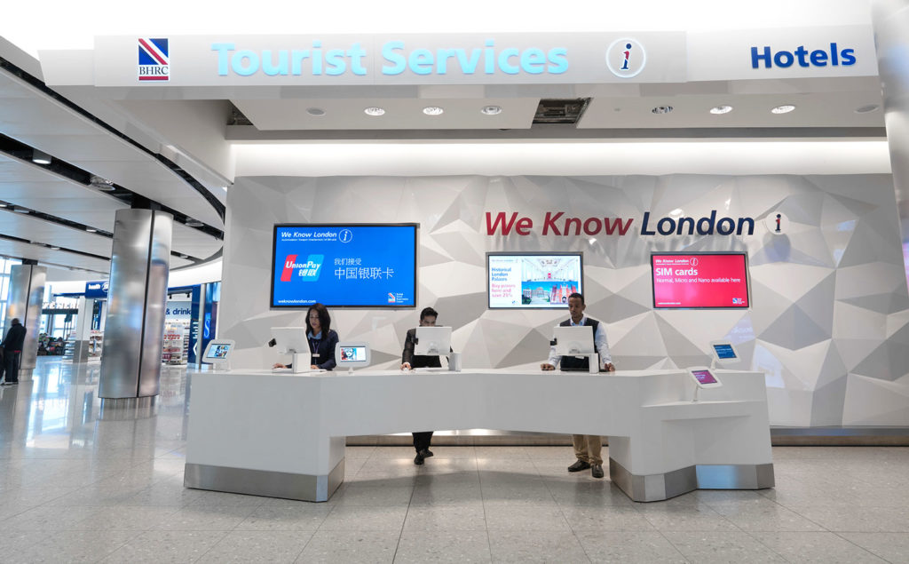 WeKnow London - Partner von Travelers Wifi am Flughafen London Heathrow