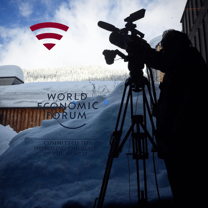 Live Broadcast from WEF Davos with Travelers Wifi