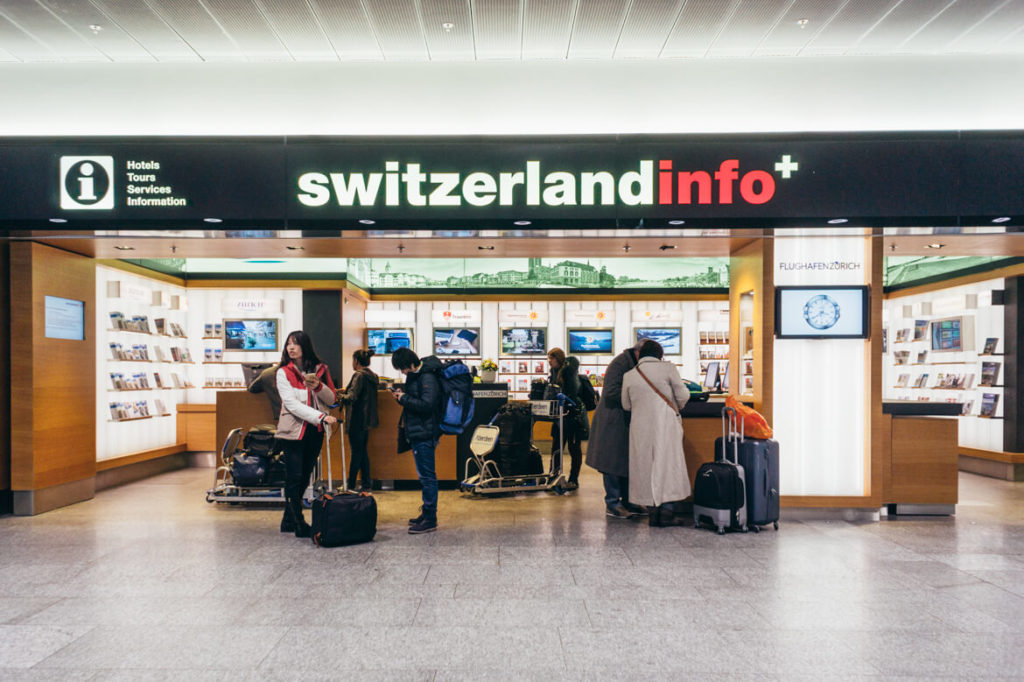 Pickup at Zurich Airport Infodesk Arrival 2