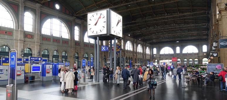 Lockers in Zurich Station Switzerland