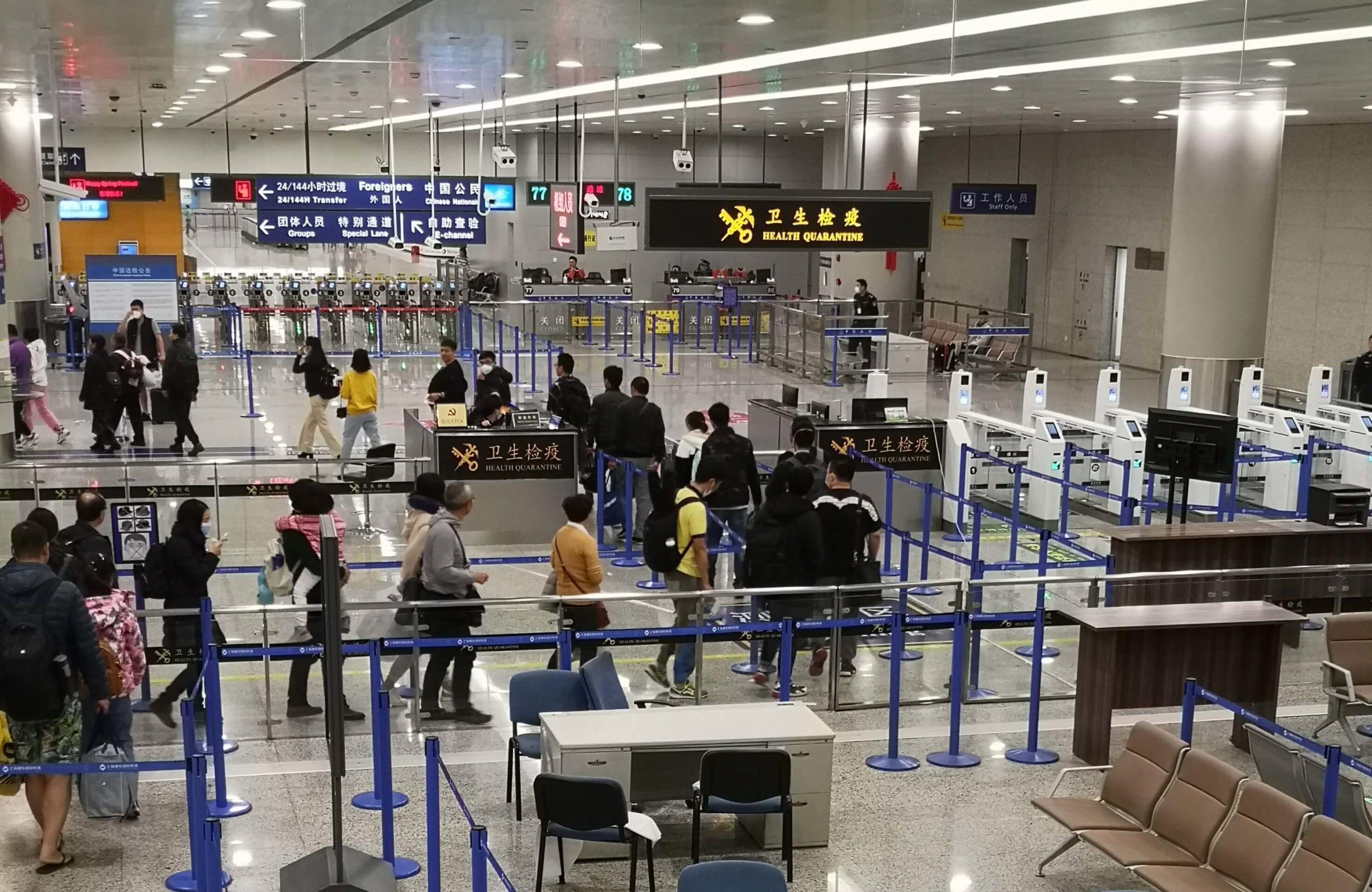 coronavirus china traveling airport travelers wifi
