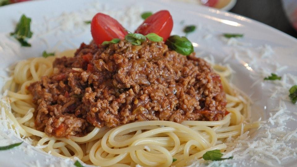 Bolognese Spagetti Italian Food Travelers Wifi