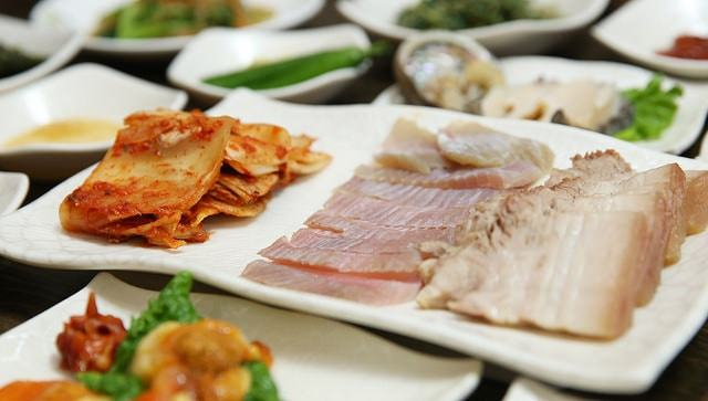 Korea Food Sliced Raw Trout