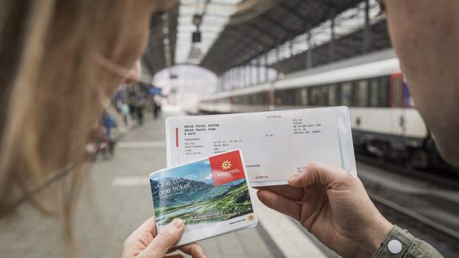 Swiss travel pass for traveling trough Switzerland